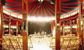 interior of circus tent